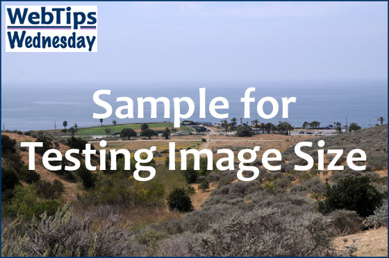 WebTips Wednesday Sample Photograph – 560x372